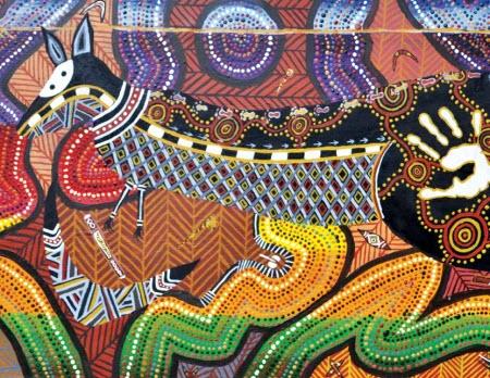 Hunting kangaroos painting by Bradley Brown