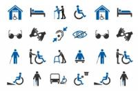 Various icons representing disability